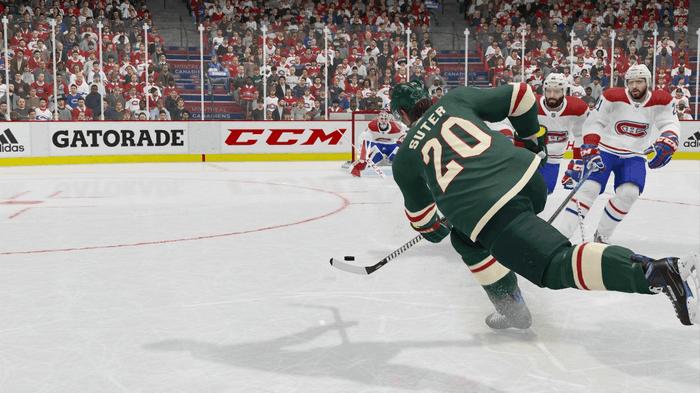 Ryan Suter, Minnesota Wild Defenseman, takes a shot on goal