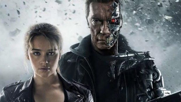 Terminator Genisys Terminator and Sarah Connor promo art