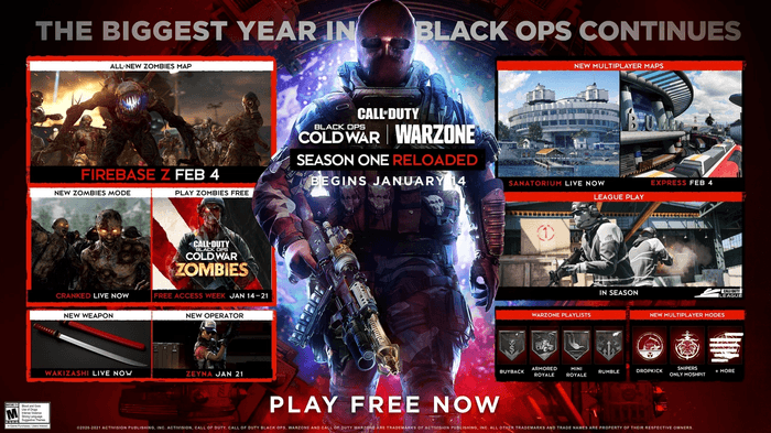 Call of Duty Black Ops Cold War Warzone Season One Reloaded Maps Release Date Patch notes Midseason Update
