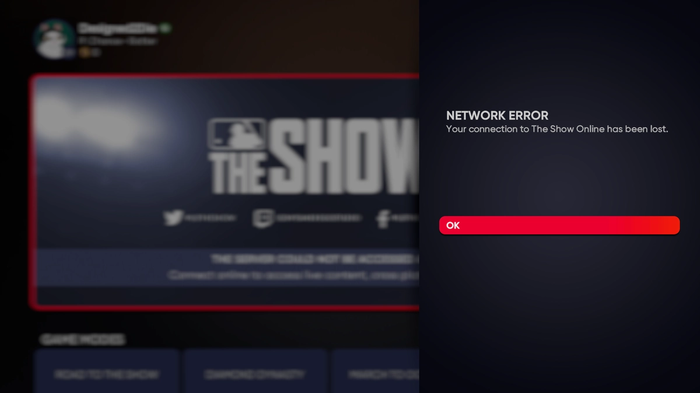 MLB The Show 21 servers down status online play