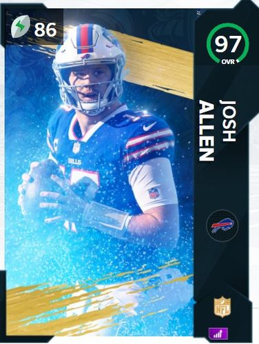 Josh Allen NFL Honors 97 OVR Fantasy player of the year Card