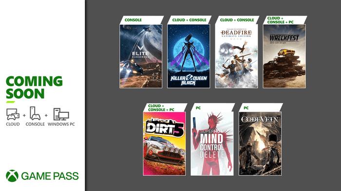 Xbox Game Pass Coming Soon Elite Dangerous Dirt 5