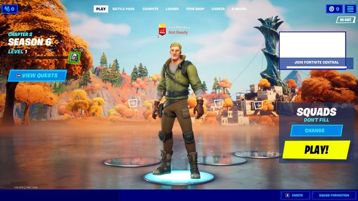 Fortnite Chapter 2 Season 6 How Battle Pass Lobby screen