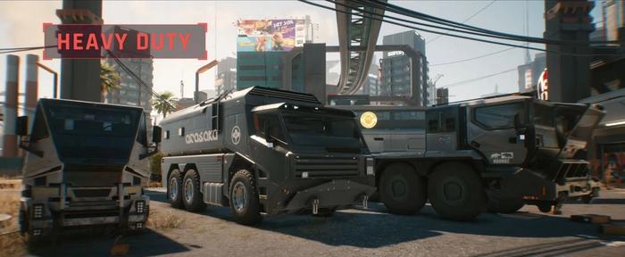 Cyberpunk 2077 Heavy Duty vehicle Class 1