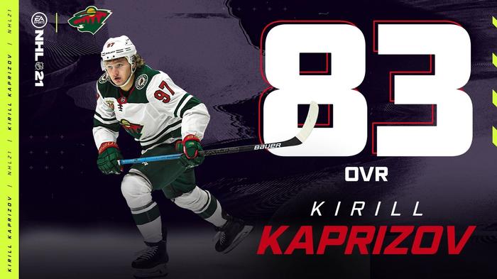 NHL 21 Kaprizov Rating Roster Update