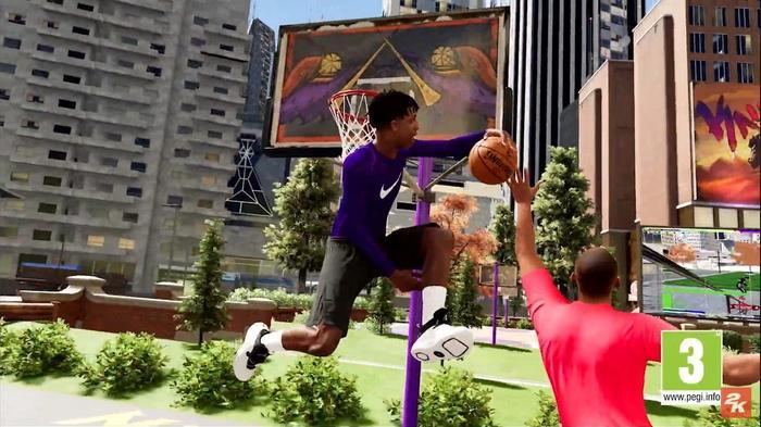 NBA 2K21 dunk