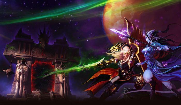 WoW Classic TBC pre patch dark portal blood elf draenei