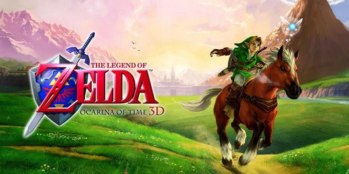 The Legend of Zelda Ocarina of Time 3D 3DS Key Art Link Epona