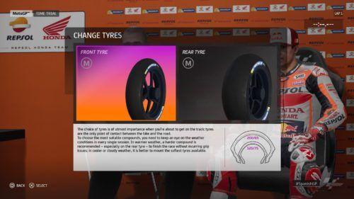 MotoGP™20 Tyre setup Spain