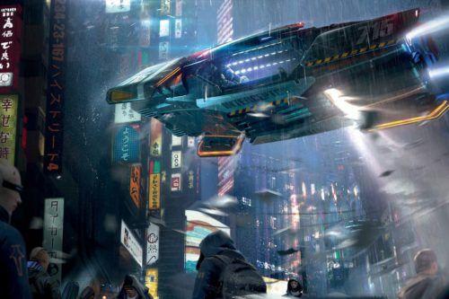 A futuristic shot from Cyberpunk 2077
