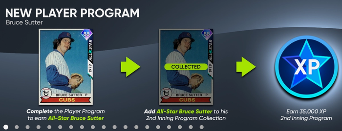 MLB The Show 21 2nd Inning Player Program Chicago Cubs Closing Pitcher Closer Bruce Sutter Diamond Dynasty
