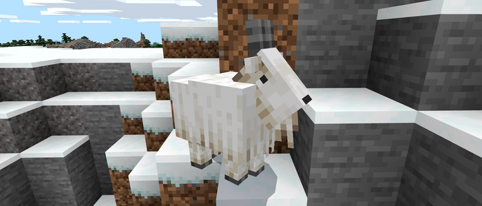 Minecraft 1.17 Caves and Cliffs Beta Features Mountain Goats Powder Snow