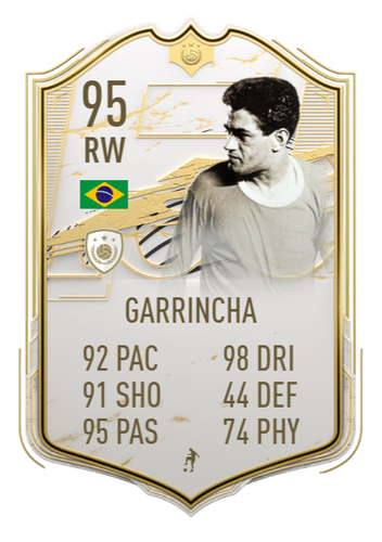 STAR MAN - Garrincha was the Player of the Tournament at the 1962 World Cup