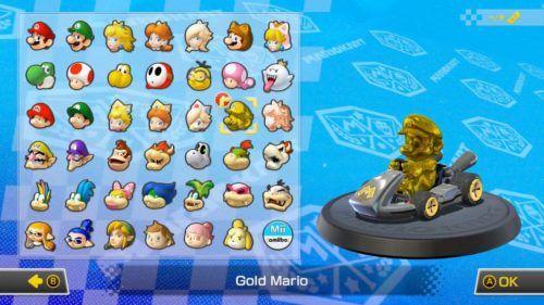 Gold Mario MK8