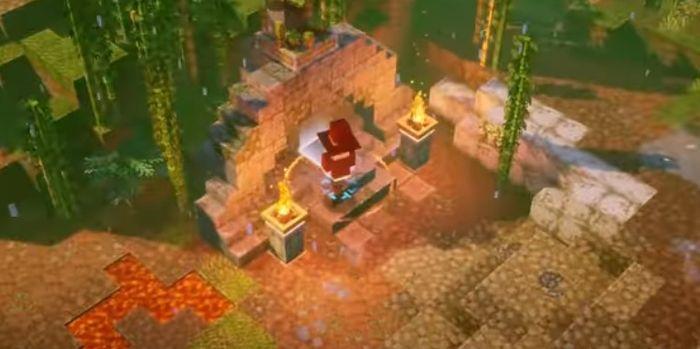 Minecraft Dungeons Jungle Awakens panda plateau 7 1