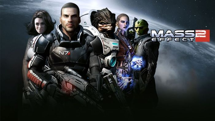 Mass Effect 2 game art wallpaper shephard miranda