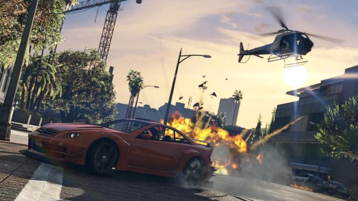 GTA 5 Enhanced Edition Car Helicopter Explosion Missile