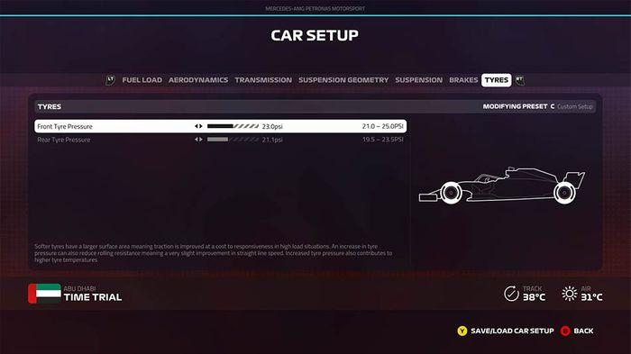 F1 2019 Abu Dhabi grand prix setup tyres