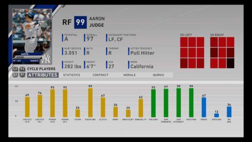 Aaron Judge left field New York Yankees MLB The Show 20