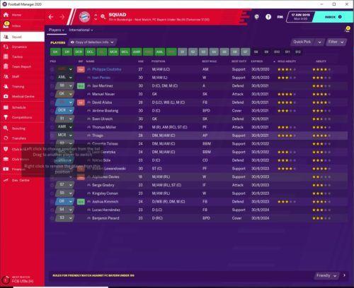 Bayern Munich FM20 Contracts