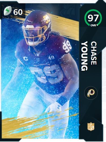 Chase Young NFL Honors 97 OVR Defensive rookie of the year Card