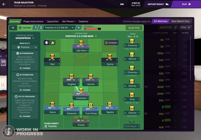 Football manager 2021 touch subs 1