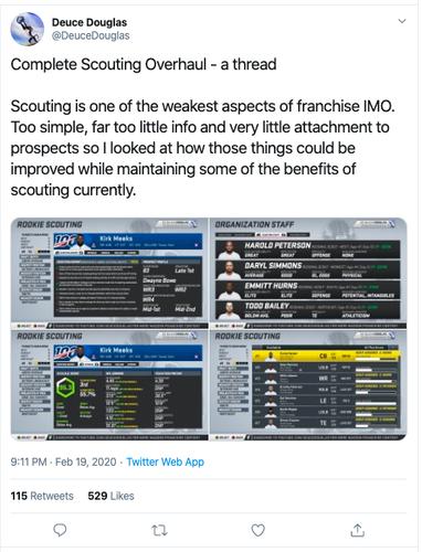 madden 21 scouting overhaul tweet