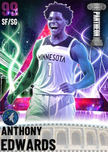 NBA 2K21 MyTEAM Dark Matter Anthony Edwards Future Rewind Packs