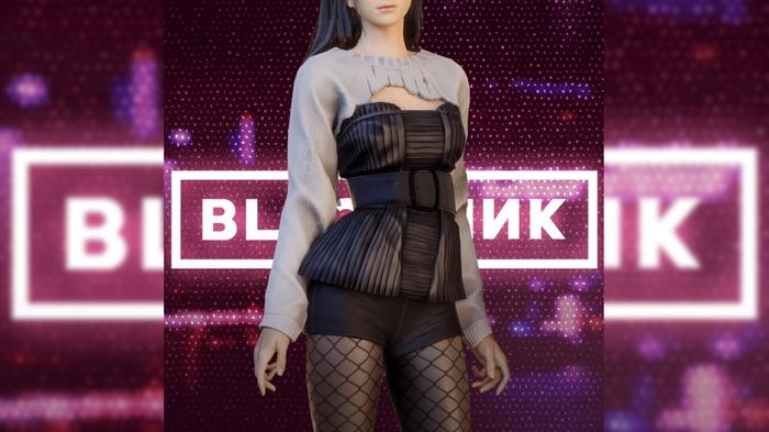 Picture of Jisoo from BLACKPINK wearing skin for the game PUBG Battlegrounds