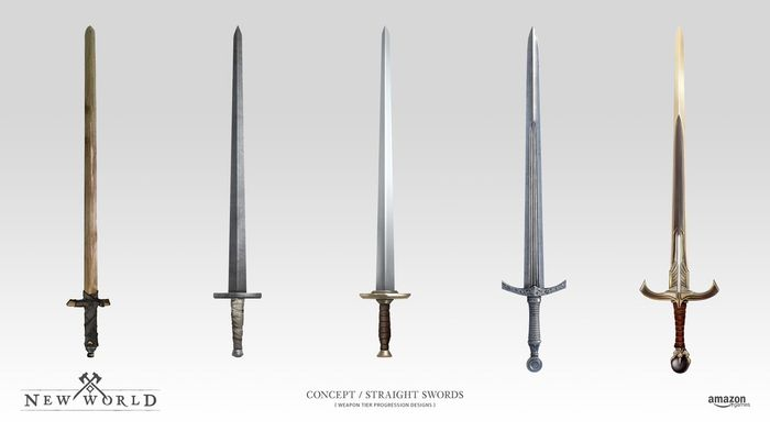 New World Swords Weapons