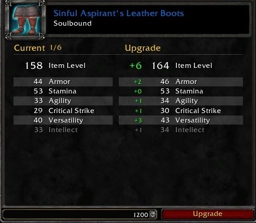 WoW Shadowlands PVP Gear Upgrade