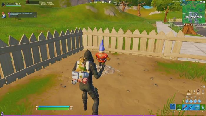 Fortnite Dig Up Gnomes In Fort Crumpet and Pleasant Park 3