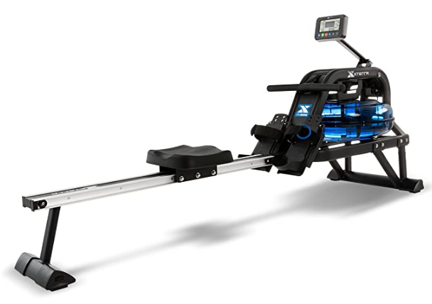 Best Rowing Machine 2021 XTERRA Fitness product image of black and silver machine with water resistance system