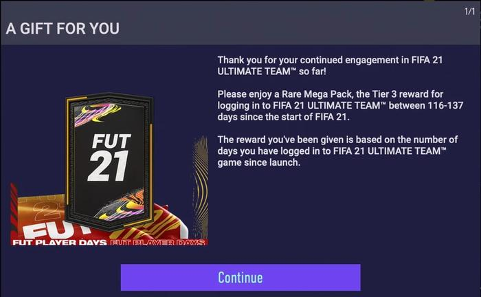 FIFA 21 FUT 21 Player Days Pack Screenshot
