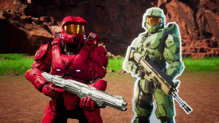 VICTORY ROYALE: Master Chief made his way to the Battle Royale in December 2020.