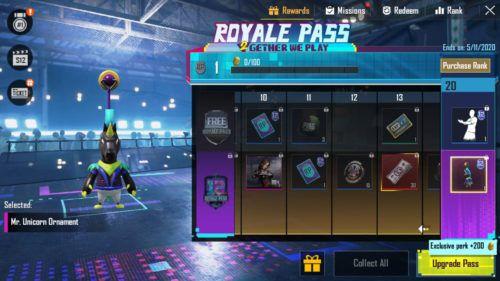 PUBG Mobile Season 12 Royale Pass ornament 1