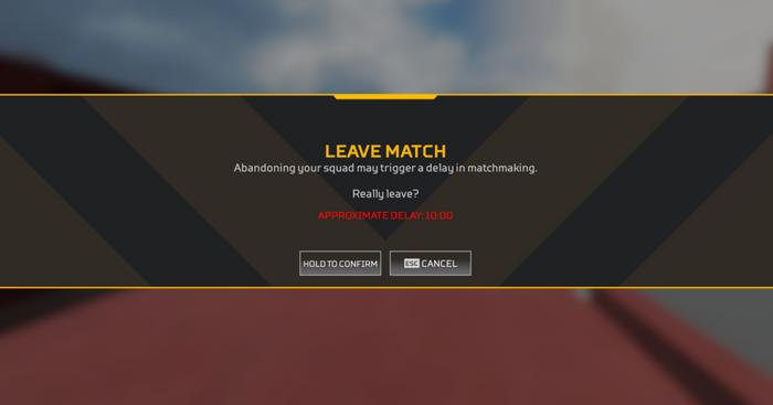 Apex Legends Leave Warning