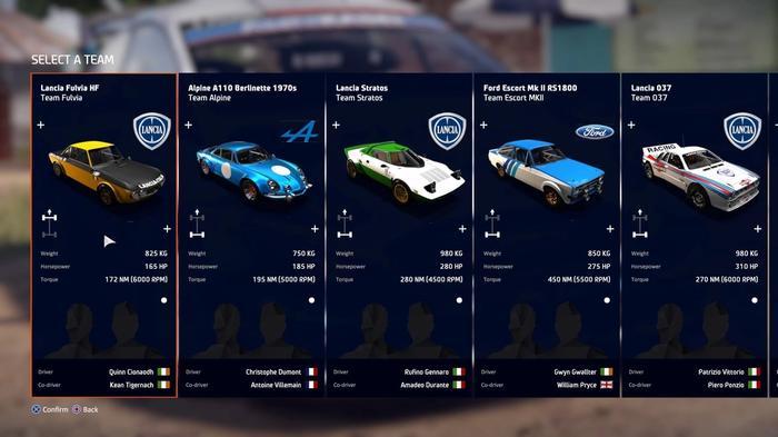 WRC 9 FIA World Rally Championship Legends Cars