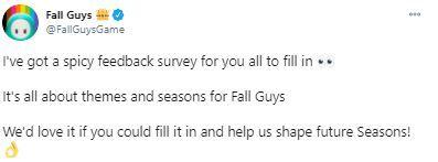 fall guys survey tweet 1
