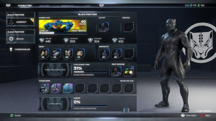 Marvel's Avengers War For Wakanda Expansion Update UI