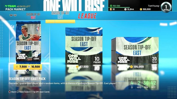 NBA 2K21 Pack Market