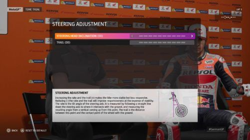 MotoGP™20 Steering adjustment setup Germany