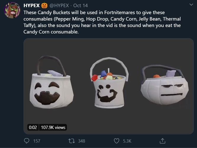 fortnite candy buckets