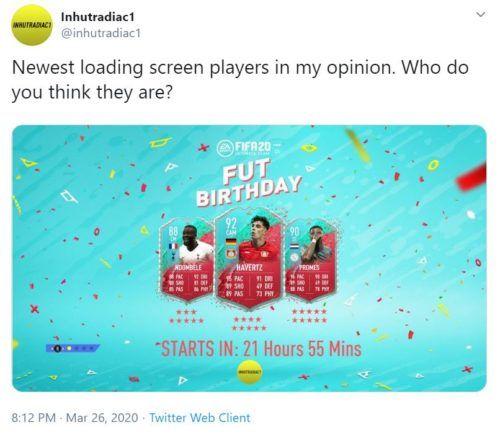 fut birthday predictions fifa 20