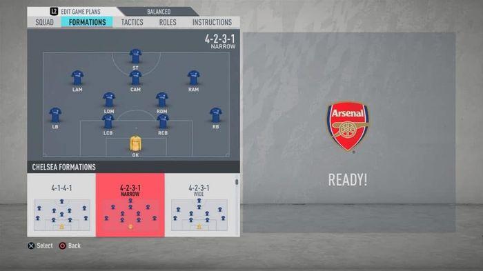 FIFA tactics - The 4-2-3-1 Narrow