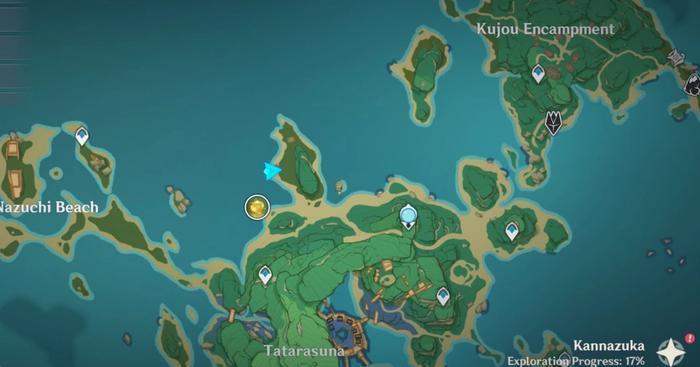 Map of Tatarasuna Inazuma Region