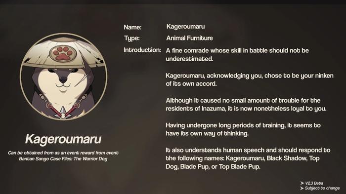 Image of new dog companion in Genshin Impact.