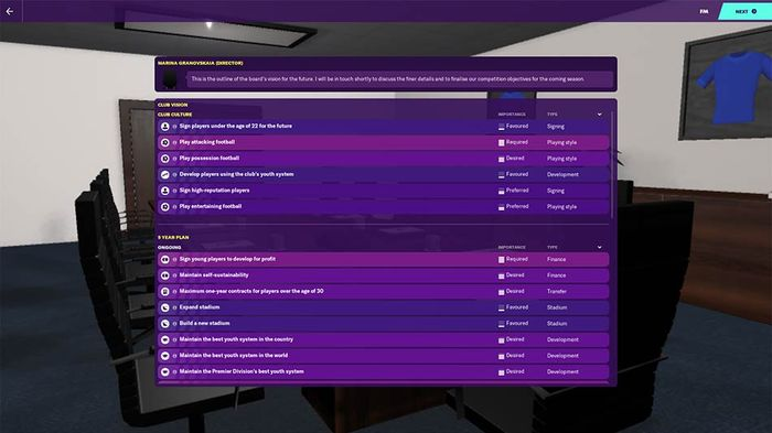 Chelsea's board have a lot of tasks for you in FM20