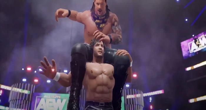 AEW console wrestling sim game jericho omega