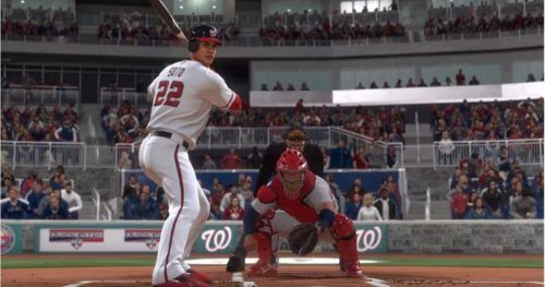 Juan Soto at the plate in MLB The Show 20